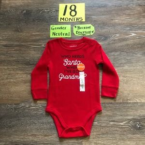 🎄NWT Jumping beans 18 Month Christmas Onesie